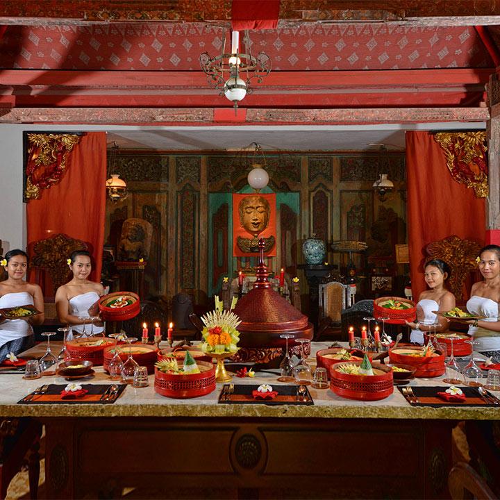 Balinese Tugudom Dining Experience at Hotel Tugu Bali