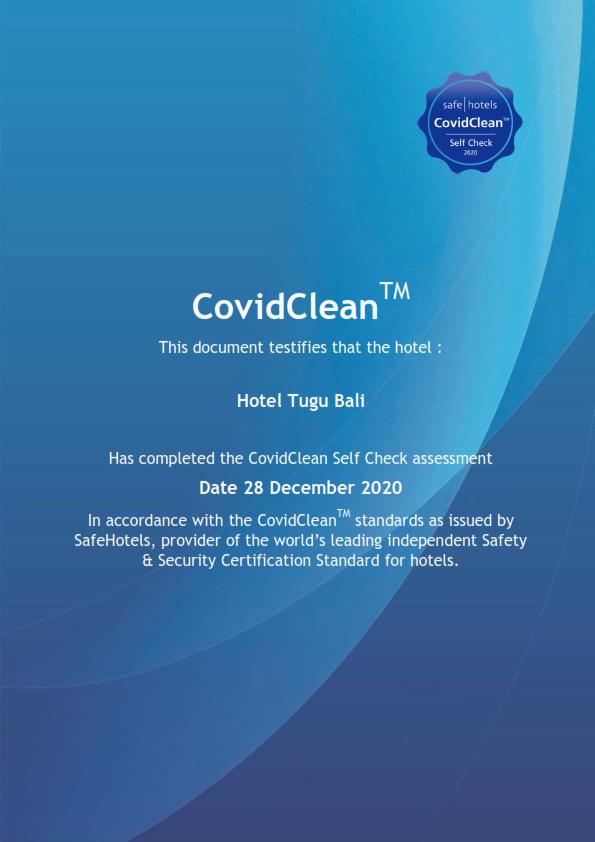 SafeHotels CovidClean Hotel Tugu Bali