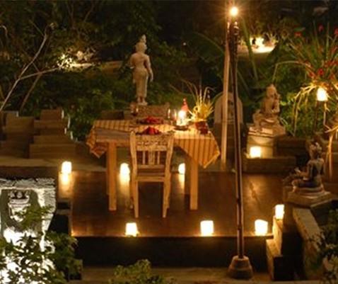 Romantic Dinner at Hening Swarga Temple Hotel Tugu Lombok