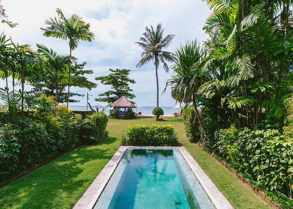 Bhagavat Gita Suite - Bechfront view at Hotel Tugu Lombok